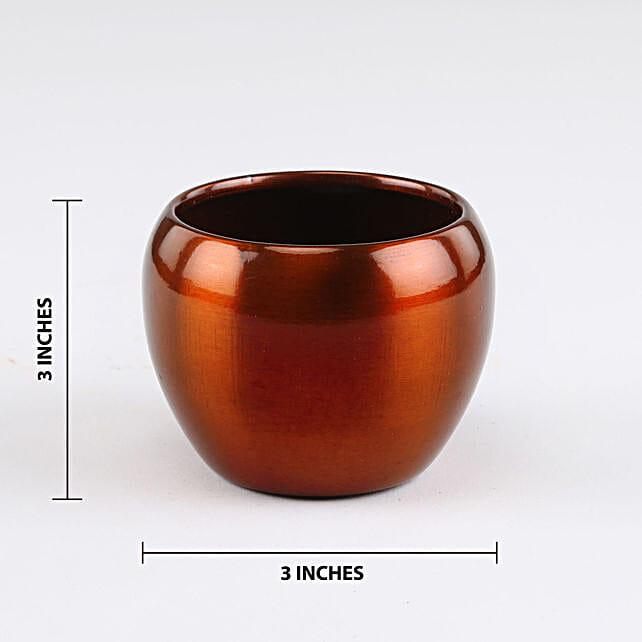 Online Brass Orchid Metal Pot