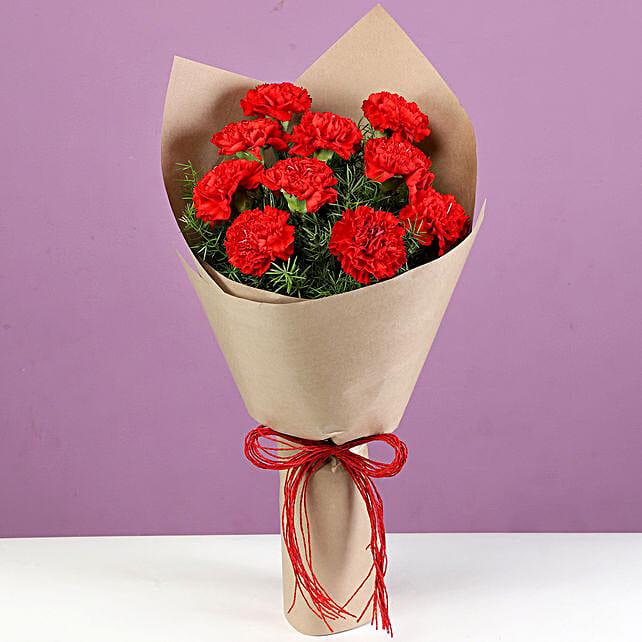 lovely red carnation online