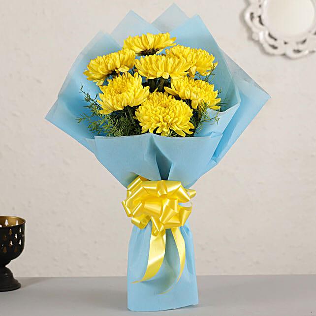 Bright Sunny Chrysanthemums