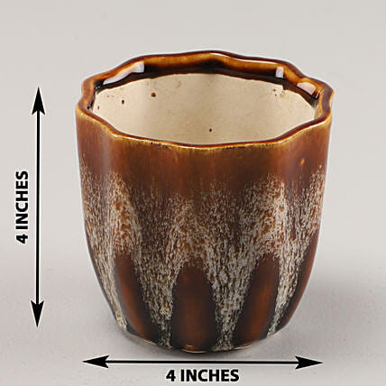 Online Brown Ceramic Planter