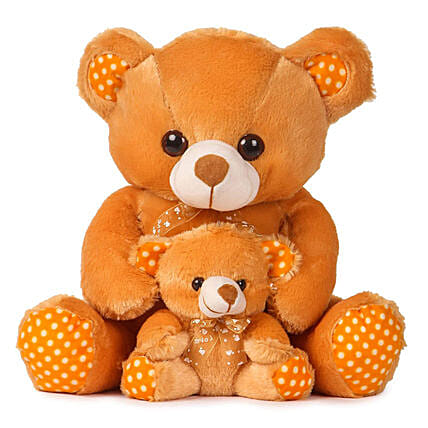 Online Brown with Baby Teddy:Soft Toys