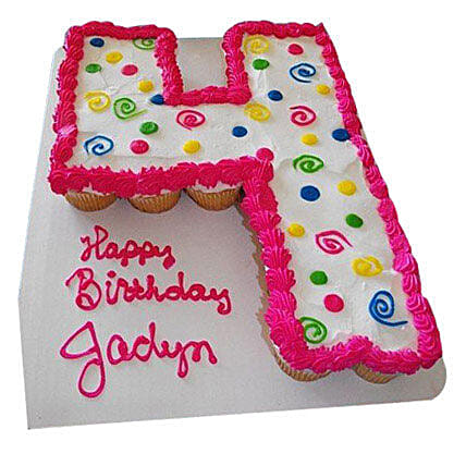 Bubbly Birthday Cake 24 Pieces Eggless