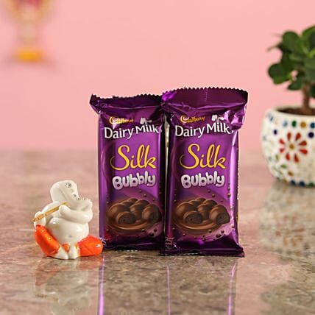 Bubbly Chocolate Lord Ganesha Idol