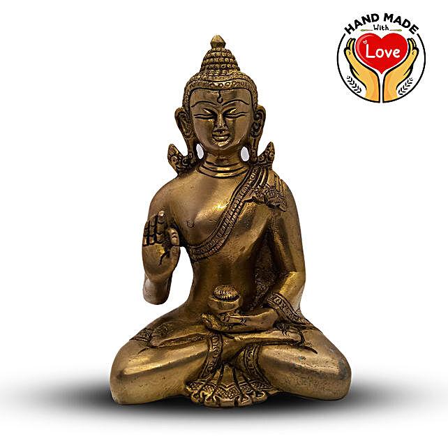 Buddha Blessing Handcradred Figurine Online