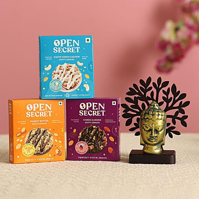 Buddha Face Idol & Cookies Combo