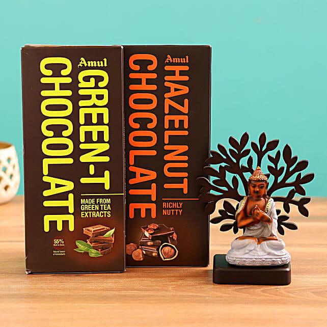 Order Buddha Idol and  Chocolates