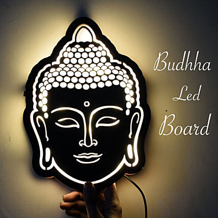 Buddha Wooden Frame Online:Send Home Decor Gifts