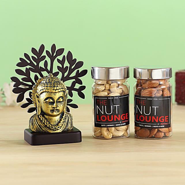 Buddha Taj Idol & Nutraj Combo:Send Diwali Gifts For Parents