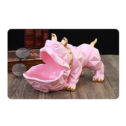 Bull Dog Decorative Holder Pink:Mobile Accessories