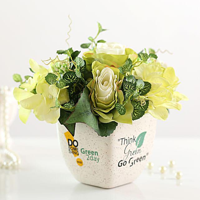 best bunch of artificial mixed flowers arrangement online