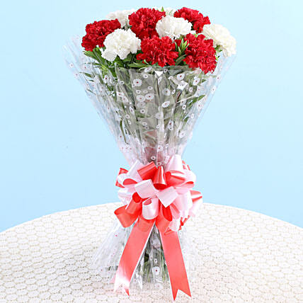 attractive carnation bouquet for him:Send Birthday Flowers for Her