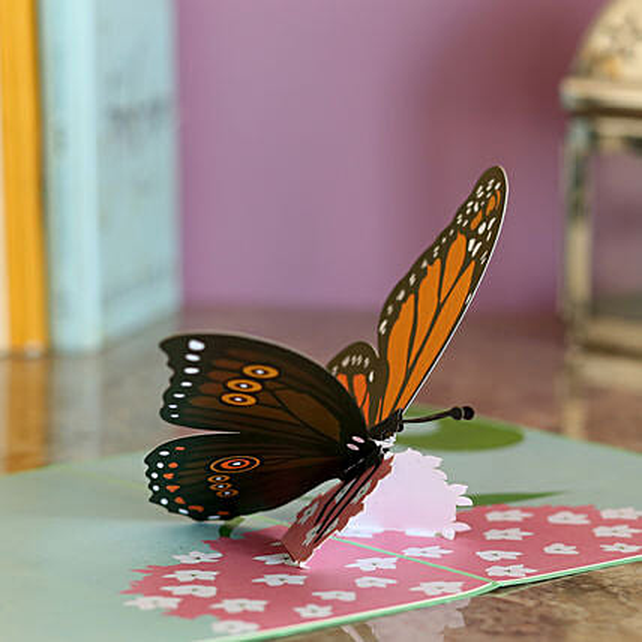 Online Butterfly Pop Up Card