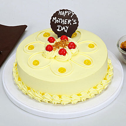 Butterscotch Mothers Day Cake Online