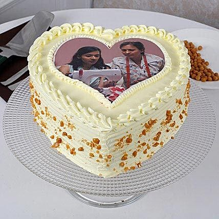 Butterscotch Photo Cake For Mothers Day 1kg Eggless