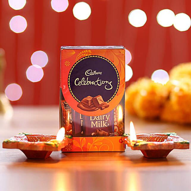 Mini Chocolate Pack and Diyas for Diwali