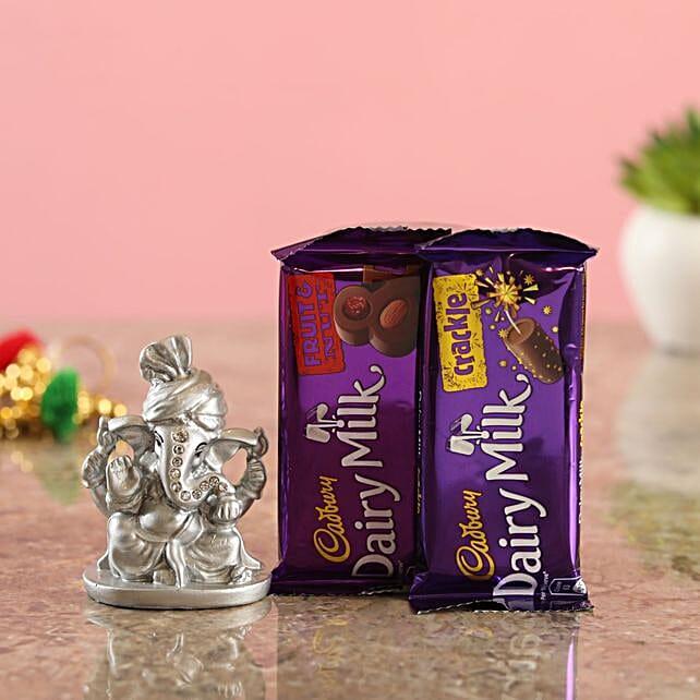 Cadbury Delights Silver Ganesha Idol