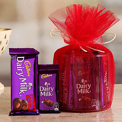 Online Cadbury Fruit N Nut And Dairy Milk Gift Hamper