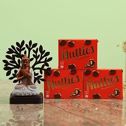 Online  Chocolates And Tree Buddha Combo