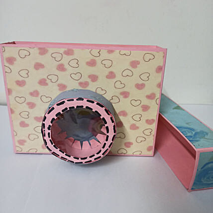 Camera shaped box with album:Stationery Gifts