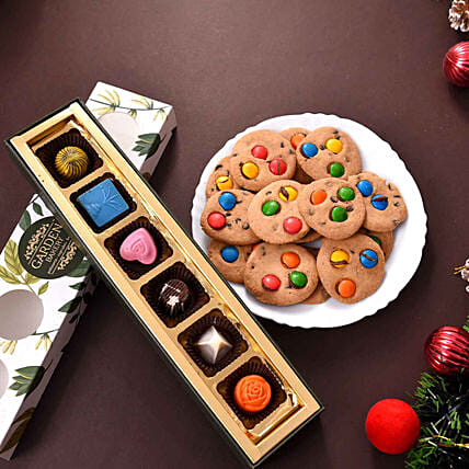 online cookies with chocolate hamper for house warming