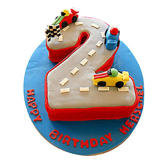 Car Race Birthday Cake 3kg Eggless Butterscotch