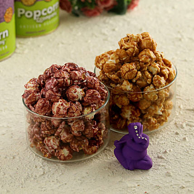 Caramel Crisp & Blueberry With Ganesha Idol