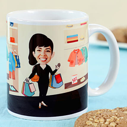 Caricature Printed Mug For Her Online