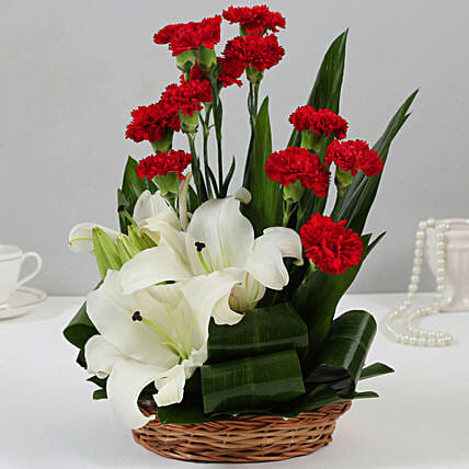 Online Carnations And Oriental Lilies