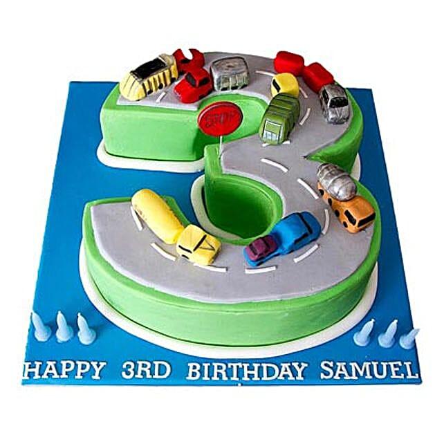 Cars Birthday Cake 4kg Eggless Butterscotch