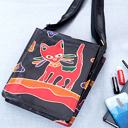 Hand Painted Trendy Sling Bag