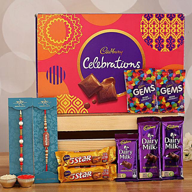 Order designer rakhi se with celebration chocolates online