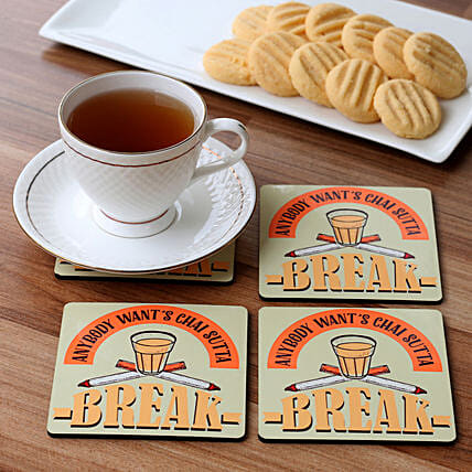 attractive printed coaster set