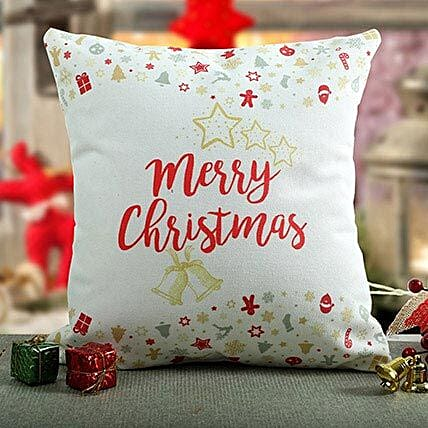 Merry Christmas Printed Cushion