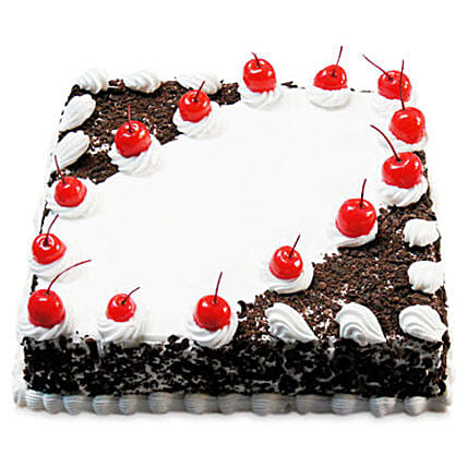 Cherry Blackforest Cake Half kg:Cakes Welcome New Born