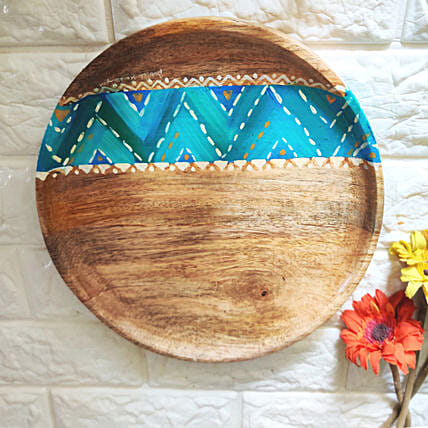 Chevron Blue Platter