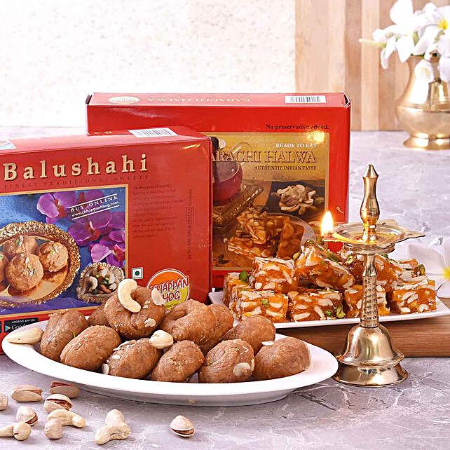 Chhappan Bhog Balushahi & Karachi Halwa With Kerala Deep