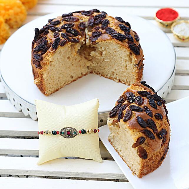 choco chip raisins dry cake & designer rakhi online