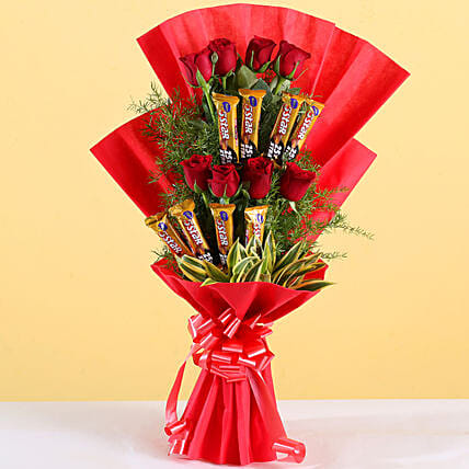 Choco Rose Bouquet:Chocolate Combos