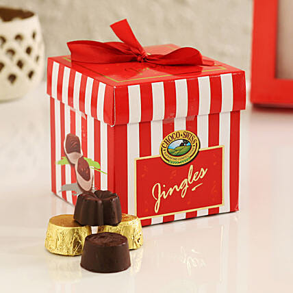 online choco jingles box:Send Handmade Chocolates