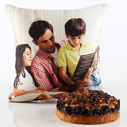 Cake and Customise Cushion for Father