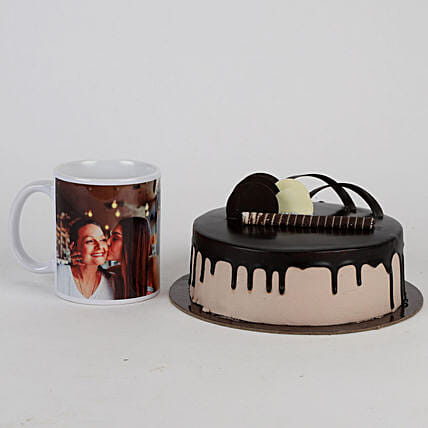 Mothers' Day Chocolate Cake and Mug Combo:Cakes N Personalised Gifts