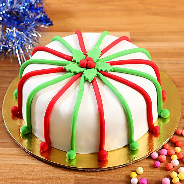 Send Chocolate Fondant Cake:Christmas Gifts for Her