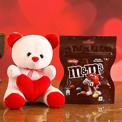 Online Chocolate With Earrings & Pendant:Soft toys for Propose Day