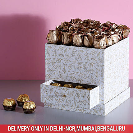 Box of Flower and Chocolate Online