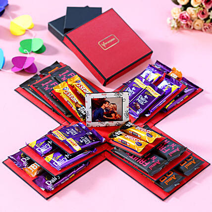 full of chocolate surprise in explosion box online:Explosion Box