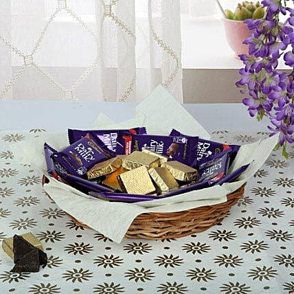 Wrapped Chocolates with White Paper