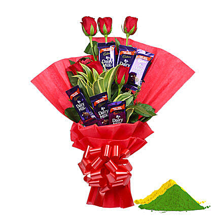 Sweet Holi Combo Offer:Holi Flowers