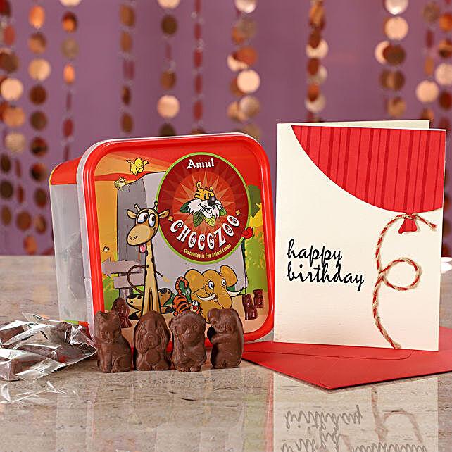 Online Chocozoo Birthday Wishes:Amul Chocolates