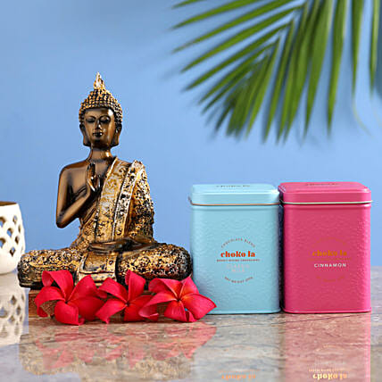 exclusive buddha idol with choko la blends for house warming