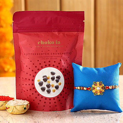 Online Butterscotch Crunchettes And Rakhi